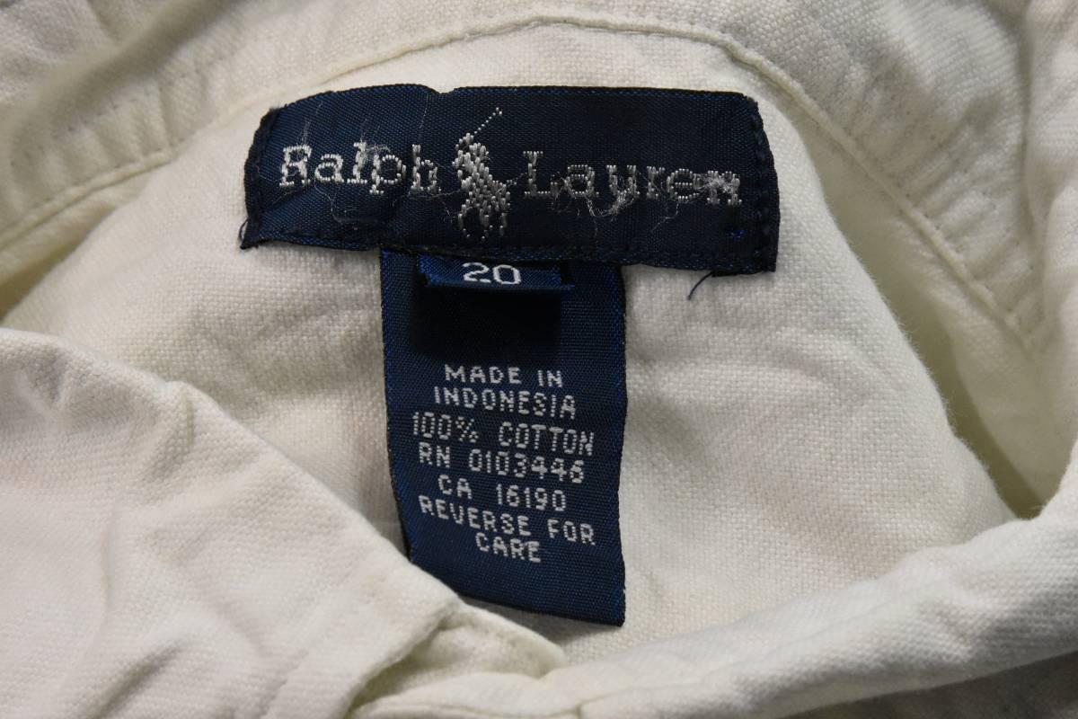 ポロ ラルフローレン ボタン ダウン シャツ 白 オックスフォード 綿100% Polo Ralph Lauren /6446 501 101 505 00 606 511 503 200_画像2