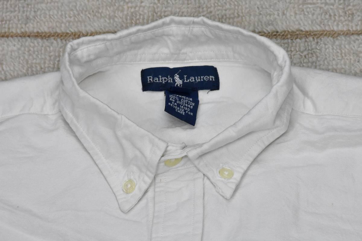 ポロ ラルフローレン ボタン ダウン シャツ 白 オックスフォード 綿100% Polo Ralph Lauren /6446 501 101 505 00 606 511 503 200_画像4