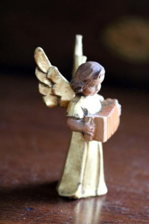 ■ アンリ工房/ANRI、木彫ミュージックエンジェル/天使・アコーディオン ■_画像4