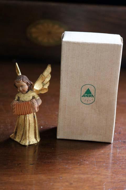 ■ アンリ工房/ANRI、木彫ミュージックエンジェル/天使・アコーディオン ■_画像6