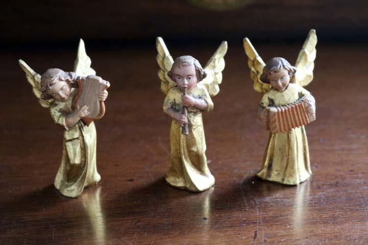 ■ アンリ工房/ANRI、木彫ミュージックエンジェル/天使・アコーディオン ■_全部で3体出品中