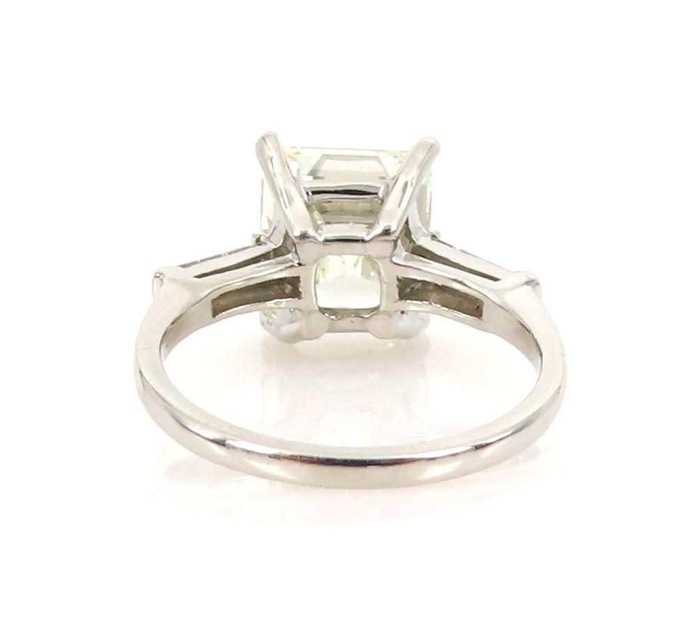 ◆GIA鑑定書付◆豪華◆《3.77ct ステップカット ダイヤモンド》【プラチナ】《婚約 指輪 エンゲージメント リング》_画像6