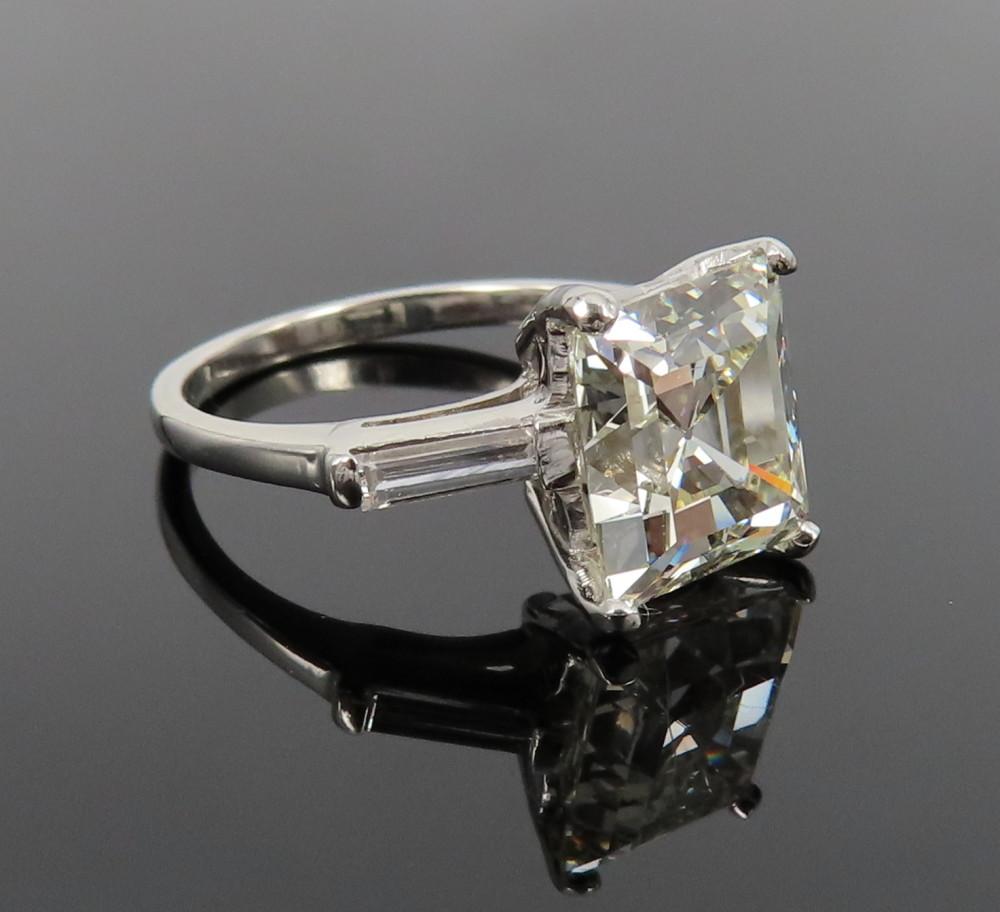◆GIA鑑定書付◆豪華◆《3.77ct ステップカット ダイヤモンド》【プラチナ】《婚約 指輪 エンゲージメント リング》_画像2