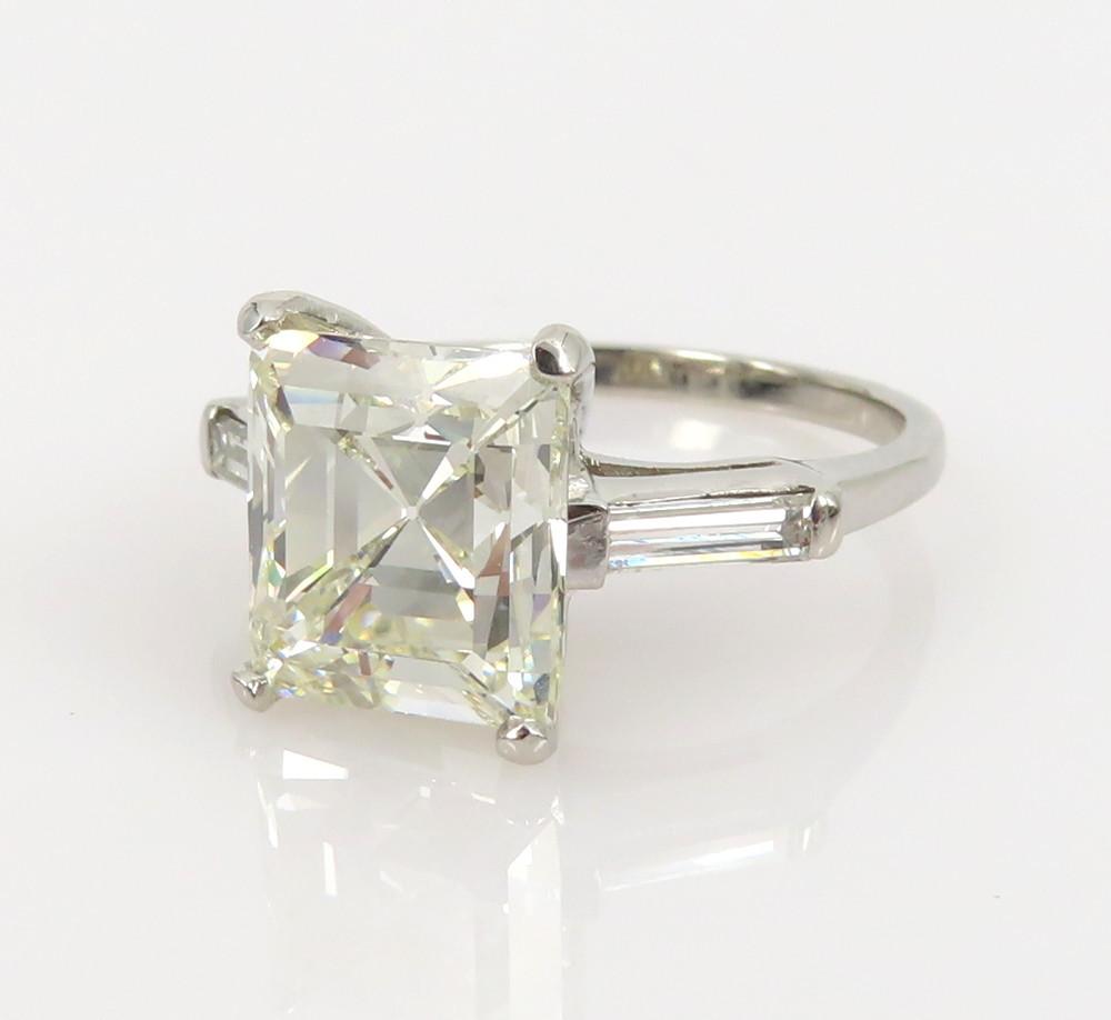 ◆GIA鑑定書付◆豪華◆《3.77ct ステップカット ダイヤモンド》【プラチナ】《婚約 指輪 エンゲージメント リング》_画像5