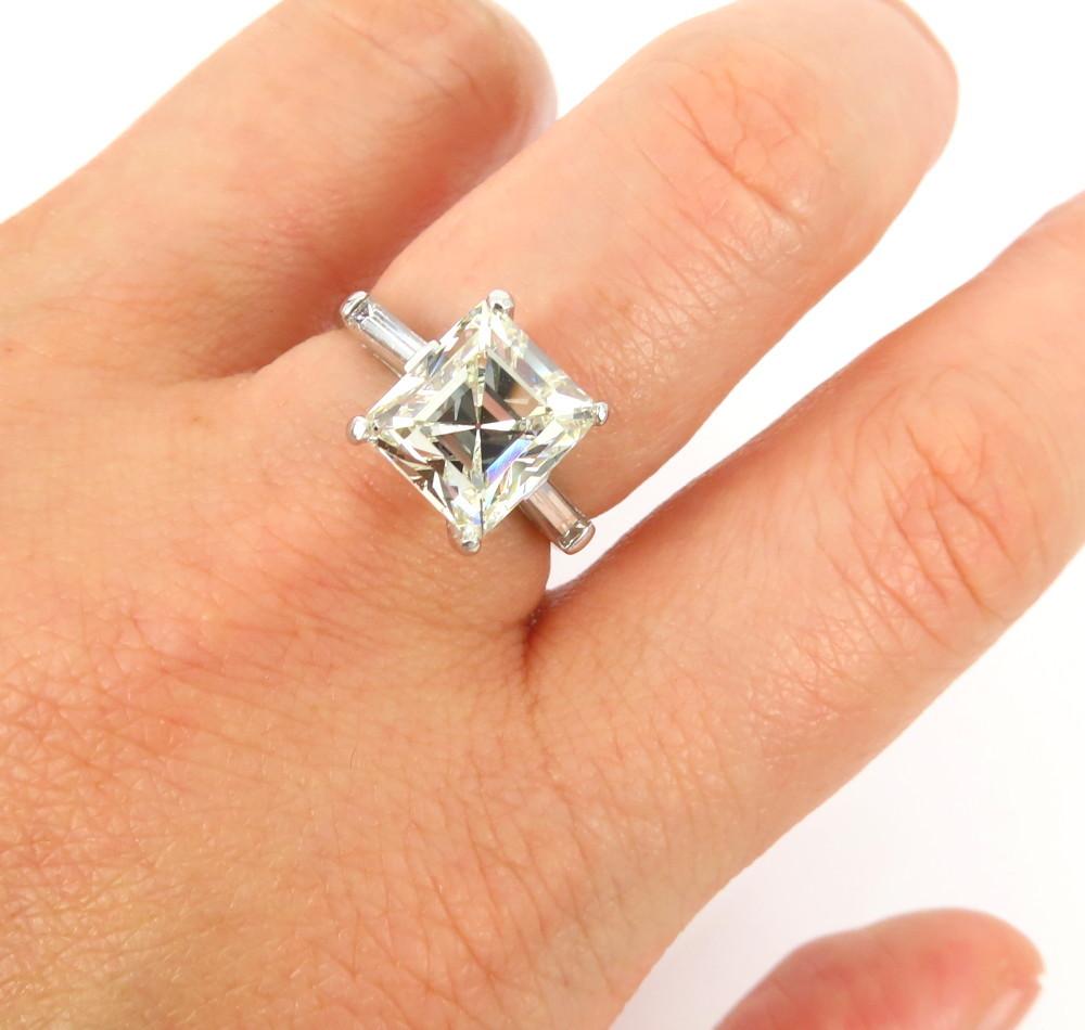 ◆GIA鑑定書付◆豪華◆《3.77ct ステップカット ダイヤモンド》【プラチナ】《婚約 指輪 エンゲージメント リング》_画像9