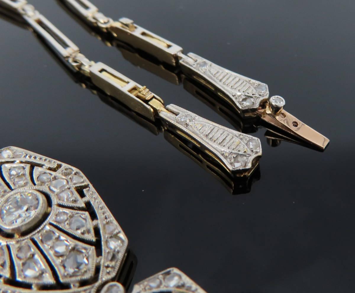 ◆大変貴重◆アンティーク◆《3.50ct オールドマイン&ローズ ダイヤモンド》【プラチナ&ゴールド】《ブレスレット ネックレス》_画像7