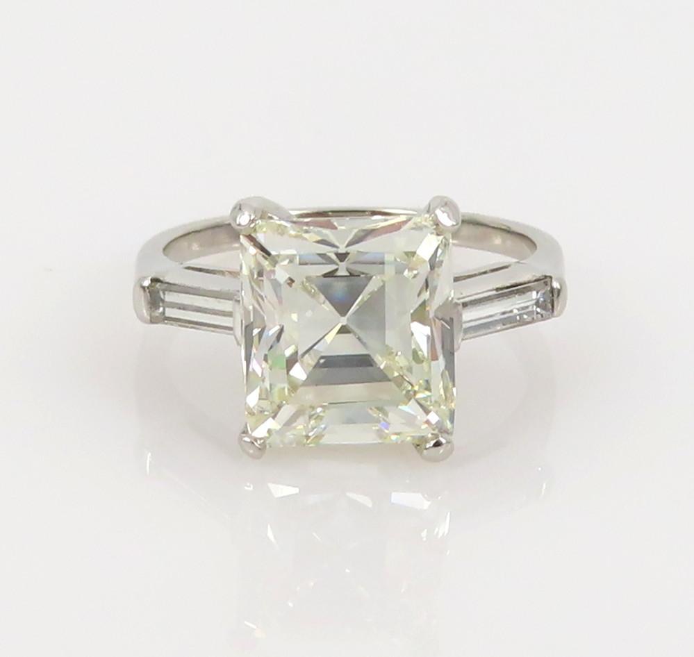 ◆GIA鑑定書付◆豪華◆《3.77ct ステップカット ダイヤモンド》【プラチナ】《婚約 指輪 エンゲージメント リング》_画像4
