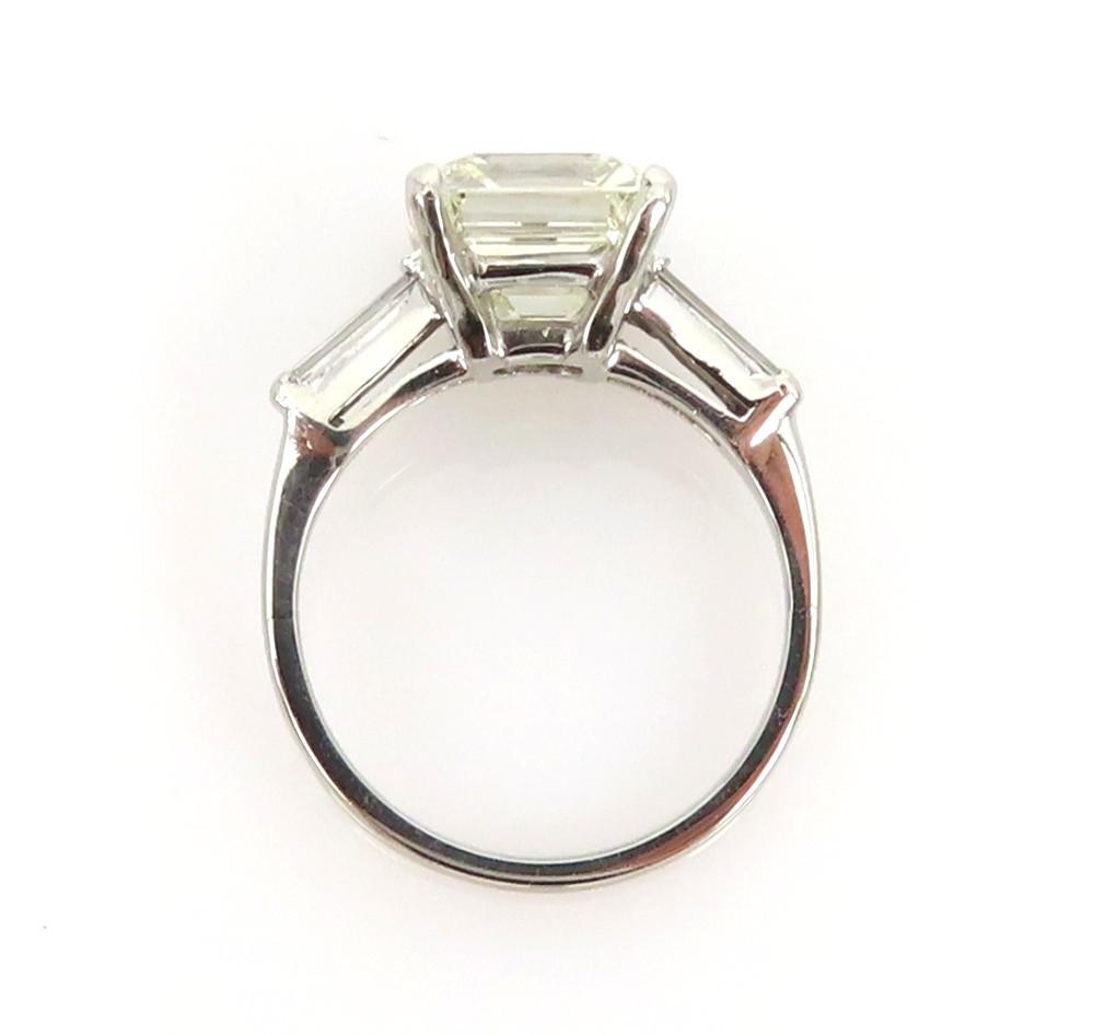 ◆GIA鑑定書付◆豪華◆《3.77ct ステップカット ダイヤモンド》【プラチナ】《婚約 指輪 エンゲージメント リング》_画像7