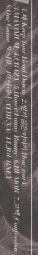 東方神起 「Keep Your Head Down」 (通常盤) ★ 韓国発売盤CD_収録曲