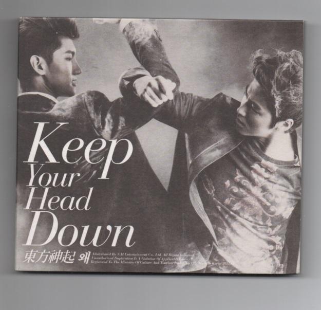 東方神起 「Keep Your Head Down」 (通常盤) ★ 韓国発売盤CD_ケース(オモテ面)