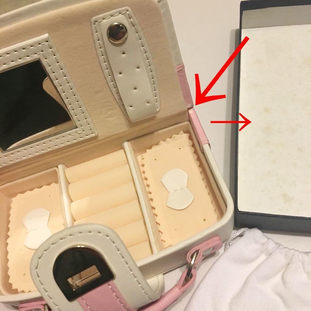 ● 未使用 4℃ ヨンドシー アクセサリーケース アクセサリーボックス トラベルケース 旅行 トートバッグ ハンドバッグ型 ピアス 指輪 小物_画像10