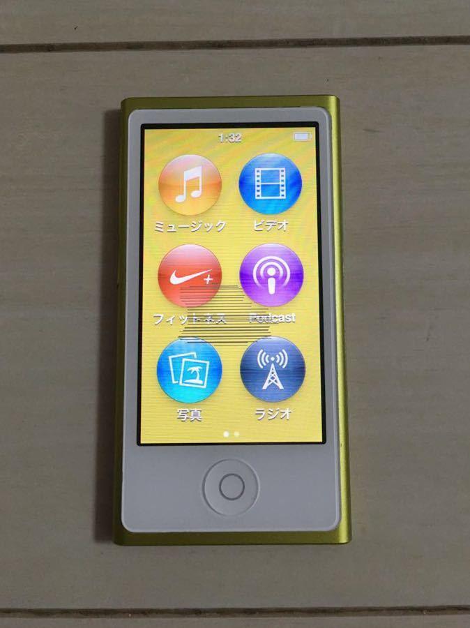 アップル 第7世代 iPod nano 16GB 本体 初期化 アイポッド ナノ A1446 apple