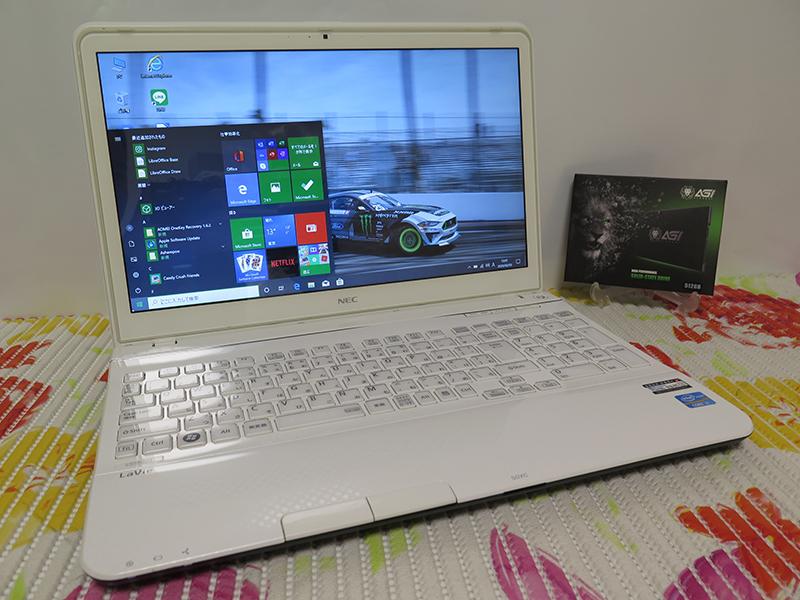 【高速Core i7(Ivy Bridge)第3世代★爆速新SSD512GB】NEC LS550/J ホワイト 最新Windows1