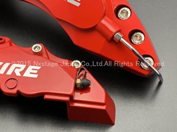 ◆VELLFIRE銀◇汎用高品質キャリパーカバーL/Mサイズ(赤)/トヨタ ヴェルファイア 30系 20系 AGH30W GGH30W AYH30W ANH20W GGH20W ATH20W_画像4