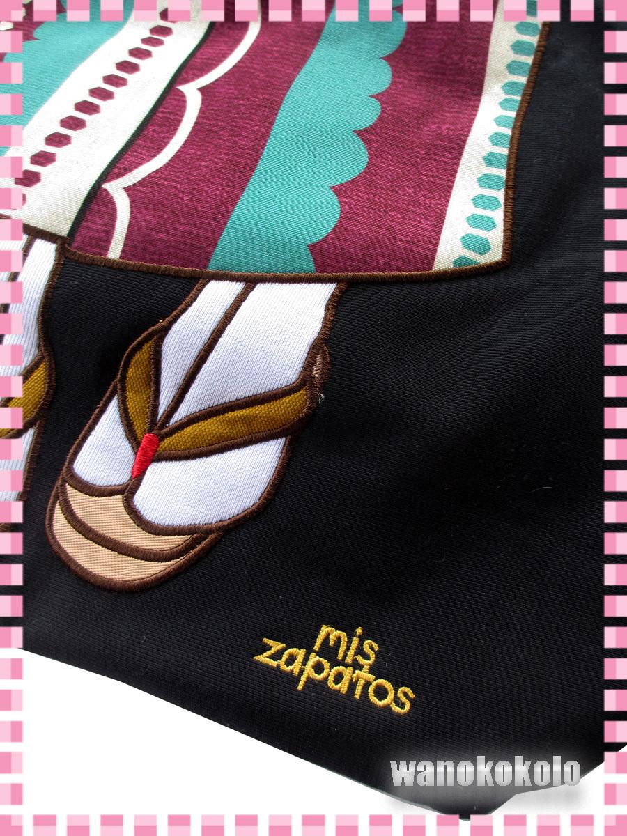 【和の志】mis zapatosミスサパト着物トートバック◇スウェット素材 ブラック系 B-6462-BK_画像2