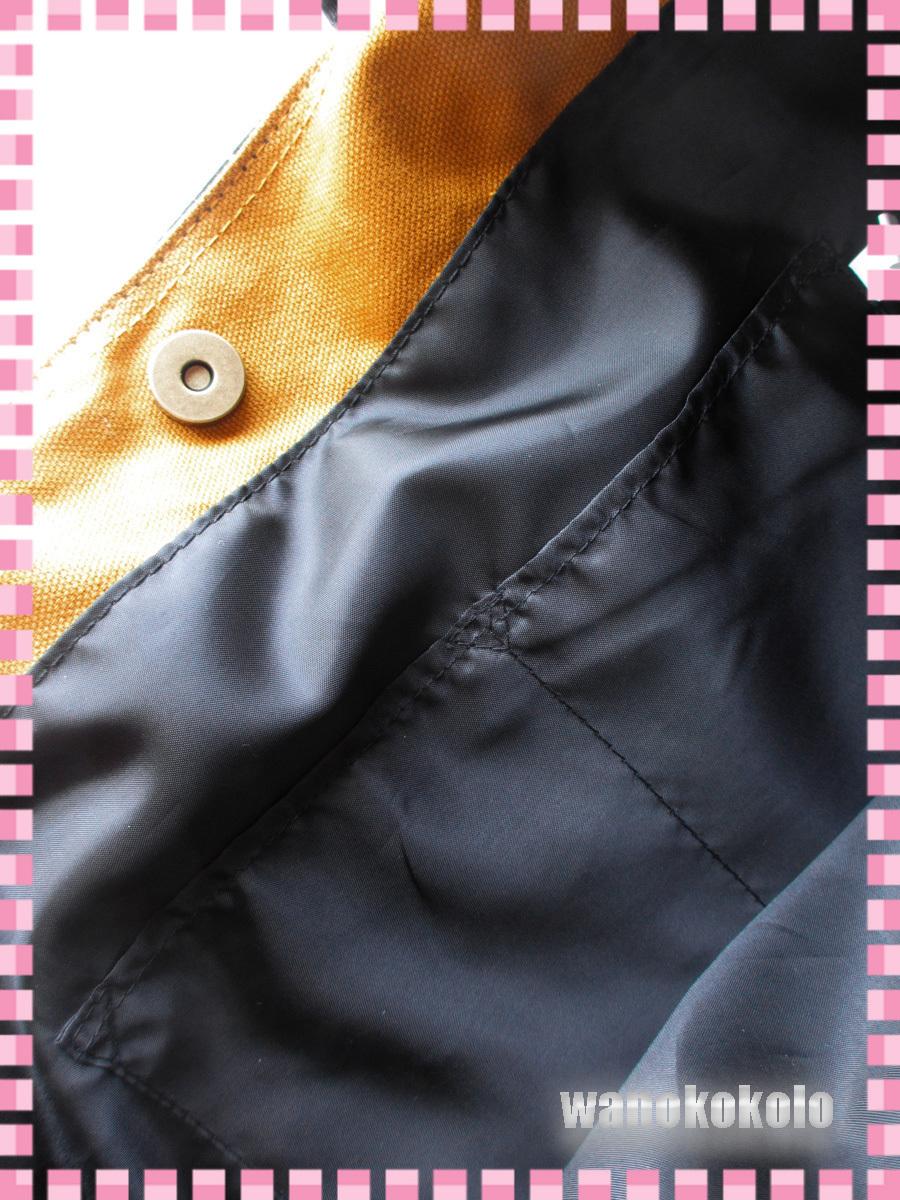 【和の志】mis zapatosミスサパト着物トートバック◇スウェット素材 ブラック系 B-6462-BK_画像6
