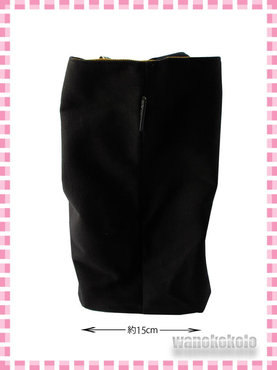 【和の志】mis zapatosミスサパト着物トートバック◇スウェット素材 ブラック系 B-6462-BK_画像5