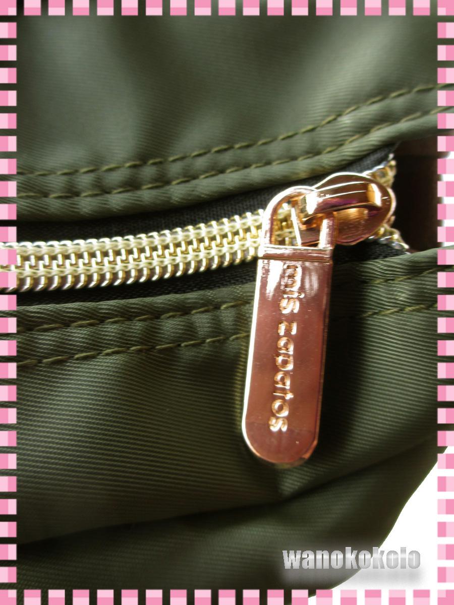 【和の志】パンプスねこ2WAYトートバッグ mis zapatos ミスサパト ナイロン素材 カーキー系 B-6874-KH_画像9