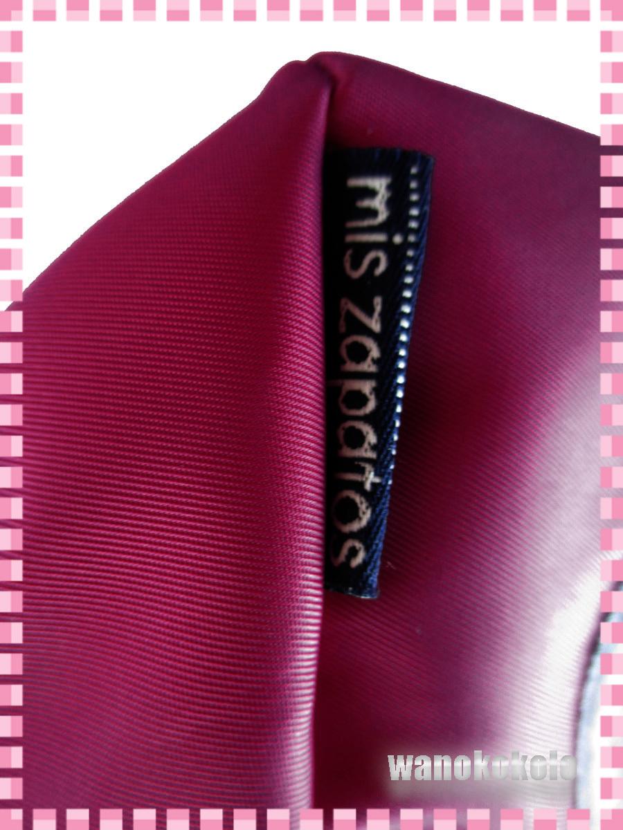 【和の志】パンプスねこミニショルダーバッグ mis zapatos ミスサパト ナイロン素材 ワイン系 B-6875-WI_画像7