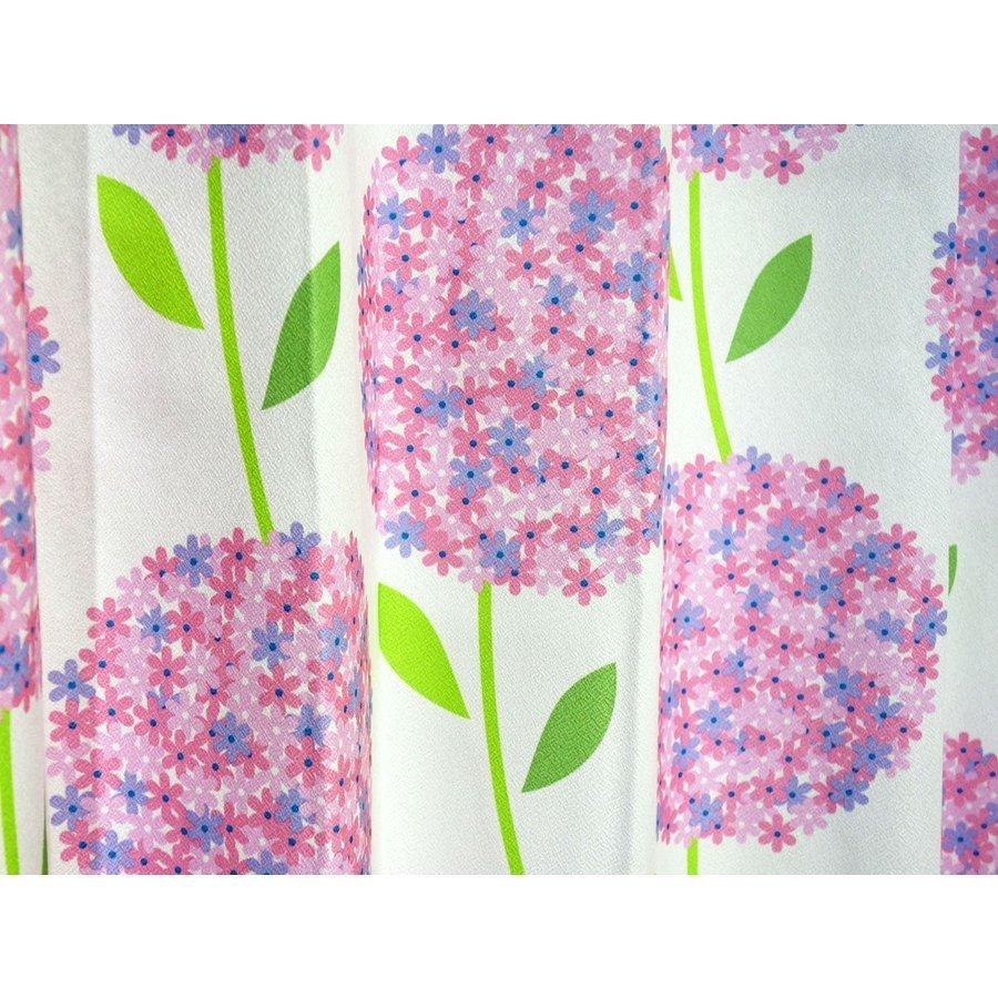 形状記憶 厚地プリント 花柄 2級 遮光カーテン2枚組 幅100×丈200cm Hortancia-100-200PI ユニベール_画像2