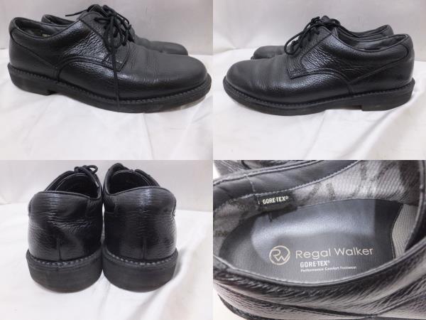 リーガルウォーカー REGAL Walker ゴアテックス ビジネスシューズ 25.5cm ブラック 黒 K2B7452 メンズ ビジネスシューズ 靴_画像2