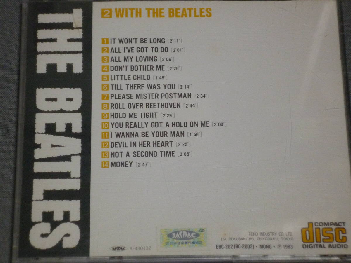 K43 ザ・ビートルズ THE BEATLES WITH THE BEATLES 2 [CD]_画像3