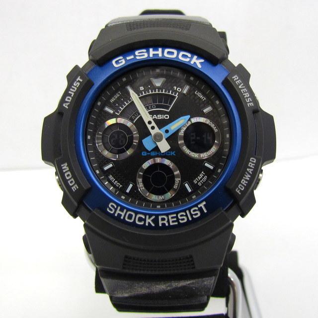 極美品 G-SHOCK ジーショック CASIO カシオ 腕時計 AW-591 HONDA CR-V コラボ ダブルネーム ブラック ホワイト アナデジ クォーツ RY2364