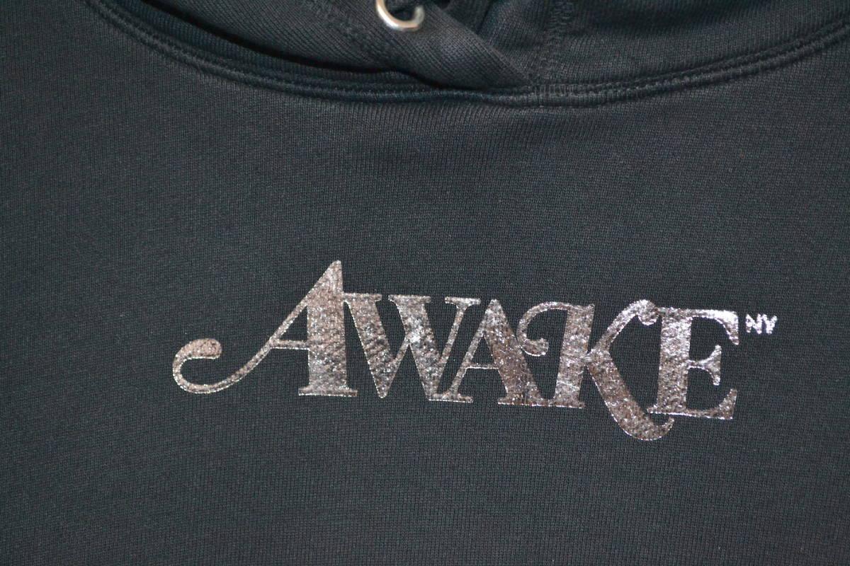 美品 正規品◆Large◆18SS Awake NY Metallic Foil Logo Hoodie Black 黒 L◆girls dont cry sup carhartt wip_画像3