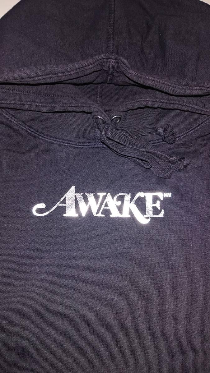 美品 正規品◆Large◆18SS Awake NY Metallic Foil Logo Hoodie Black 黒 L◆girls dont cry sup carhartt wip_画像2