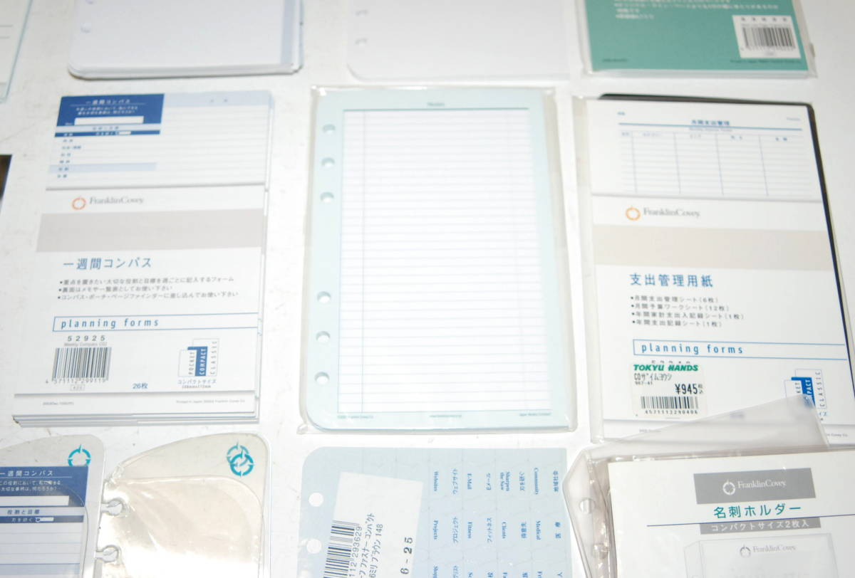 未使用品 フランクリン プランナー システム手帳 スターターキット コンパクトサイズ スモーキーブルーフランクリン・コヴィー_画像5