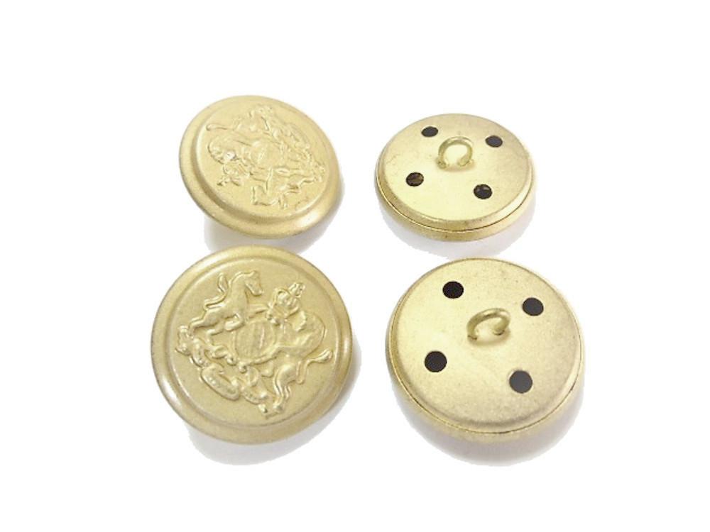 送料無料 手芸 素材 ファッション 材料 ジャケット 約15mm 艶消し 家紋調 メタル 金属 ボタン 18個入り ms233-2