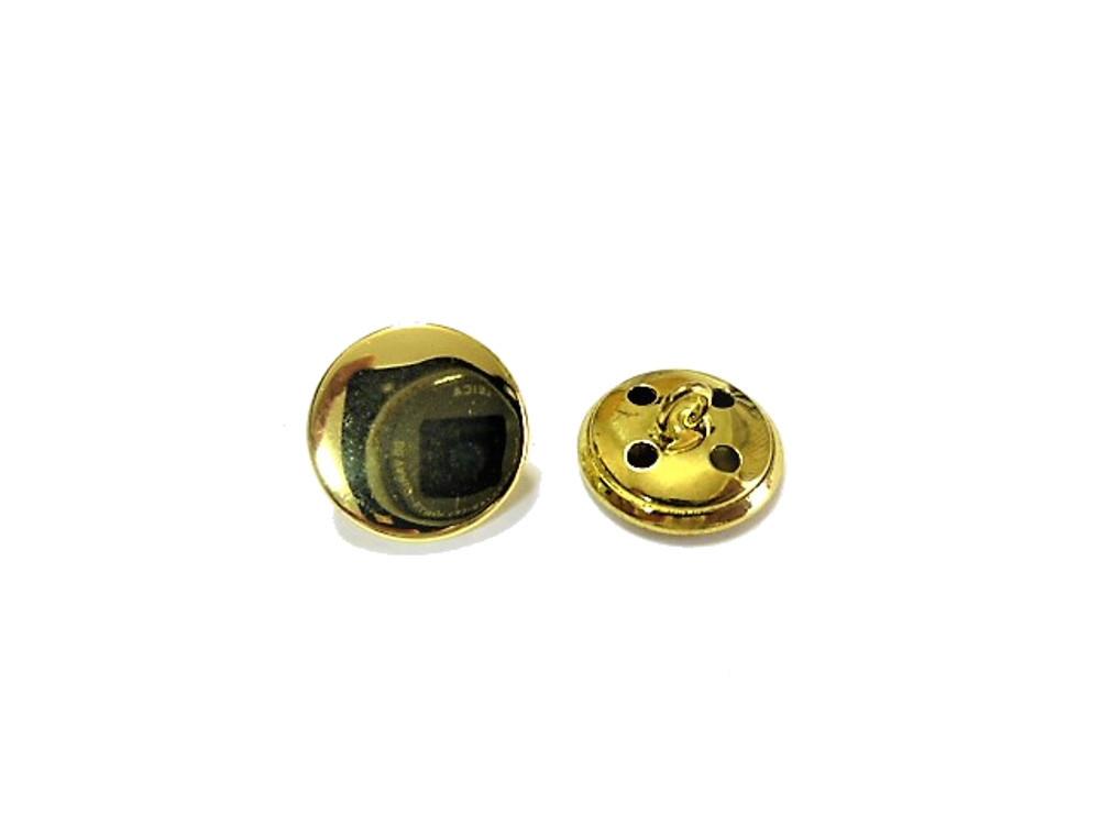 送料無料 手芸 素材 ファッション 材料 ジャケット 約15mm プレ-ン メタル 金属 ボタン 15個入り ms609