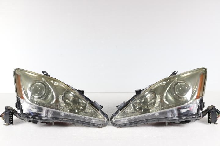 ■■送料無料即日発送■■レクサス IS 250 350 前期 中期 純正 ヘッドライト 左右 AFS付 刻印W GSE20 GSE21 GSE25 53-33 即決_IS 前期 中期 純正 ヘッドライト