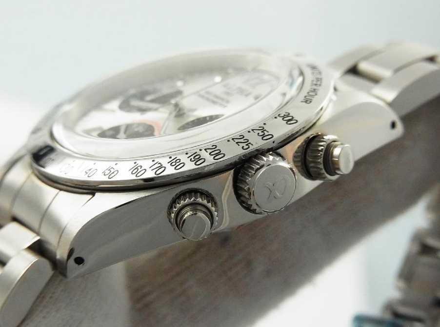 アルファウォッチ クロノグラフ ポールニューマンデイトナデザイン オマージュウォッチ 機械式 ヴィンテージ 腕時計 No4_画像5