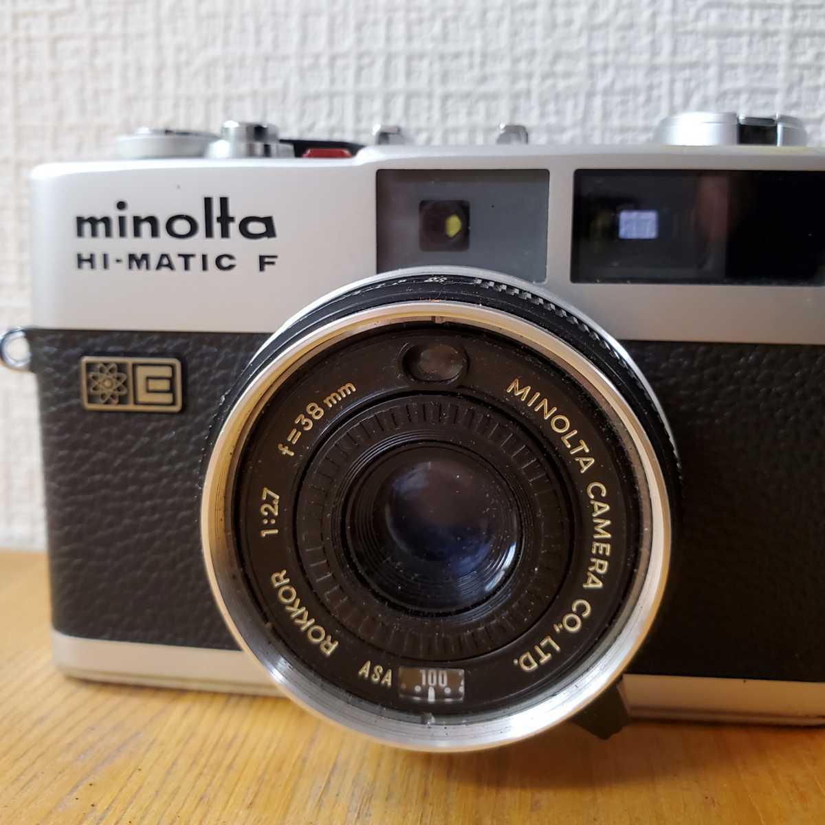 MINOLTA ミノルタ HI-MATIC F カメラ ROKKOR F=38mm 1:2.7_画像2