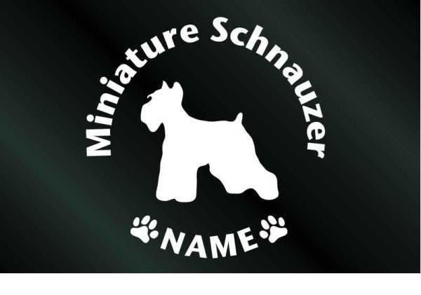 DOGシール 名前入り犬のステッカー(S)ミニチュアシュナウザー_画像1