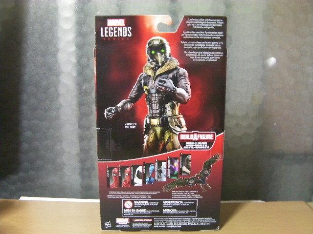 未開封 新品 正規品 マーベルレジェンド バルチャー 映画版 スパイダーマン ホームカミング_商品の裏側の画像になります。