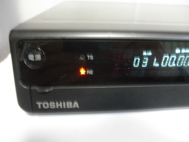 ジャンク品@@ 東芝 RD-E303 TOSHIBA HDD&DVDビデオレコーダー HDD内蔵 (リモコン&取説なし) 動作確認全てできておりません。_画像2