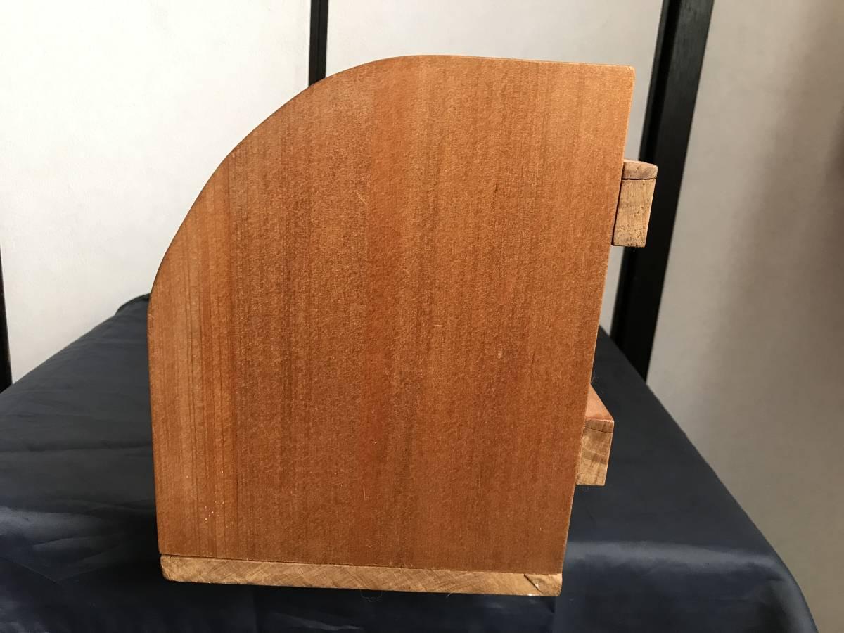 希少 珍品 木製 本棚 卓上本棚  収納 飾り棚  小物入れ 古家具 古道具  アンティーク  昭和レトロ_画像3