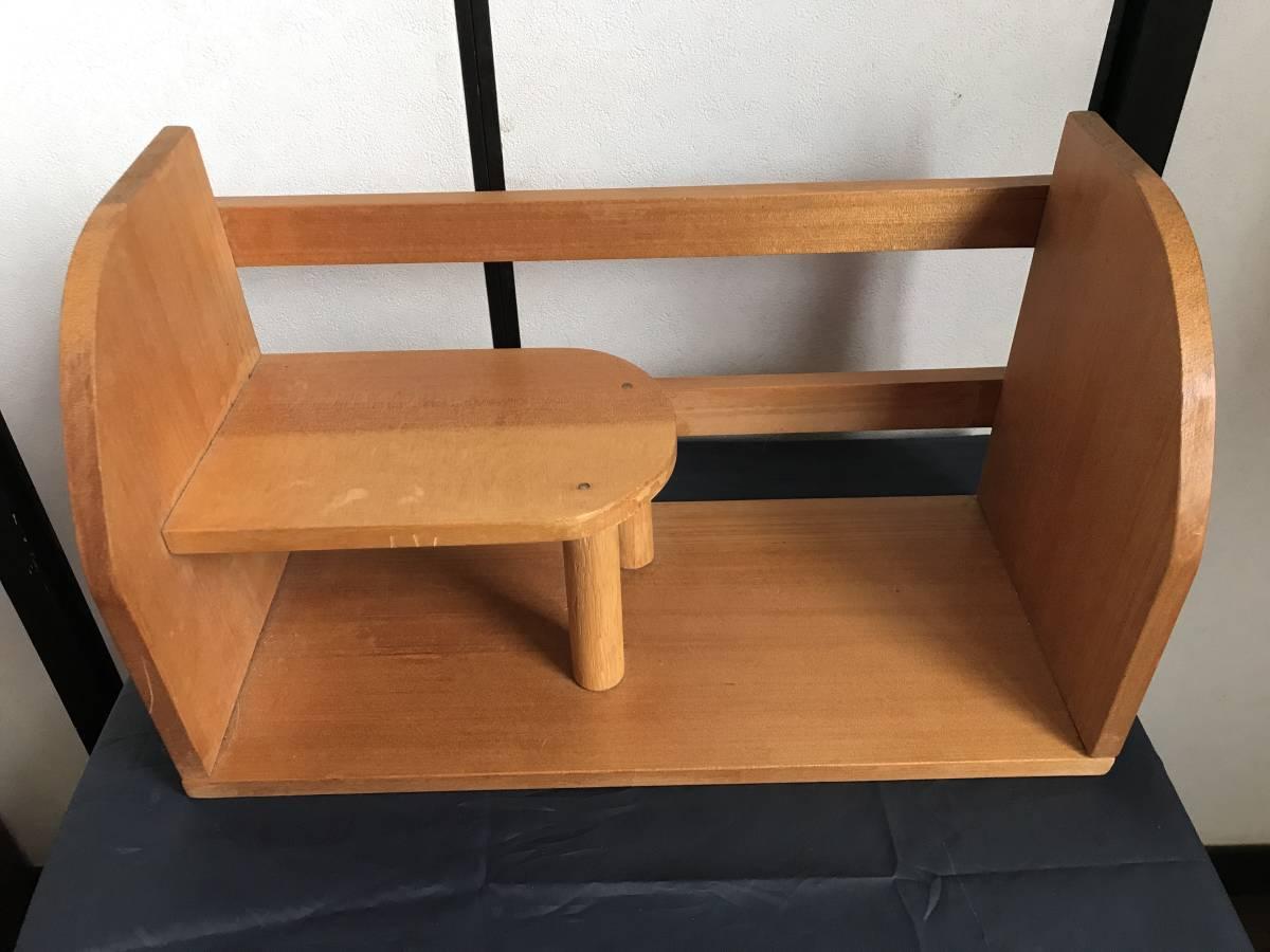 希少 珍品 木製 本棚 卓上本棚  収納 飾り棚  小物入れ 古家具 古道具  アンティーク  昭和レトロ_画像2