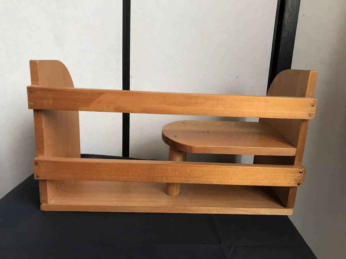 希少 珍品 木製 本棚 卓上本棚  収納 飾り棚  小物入れ 古家具 古道具  アンティーク  昭和レトロ_画像4