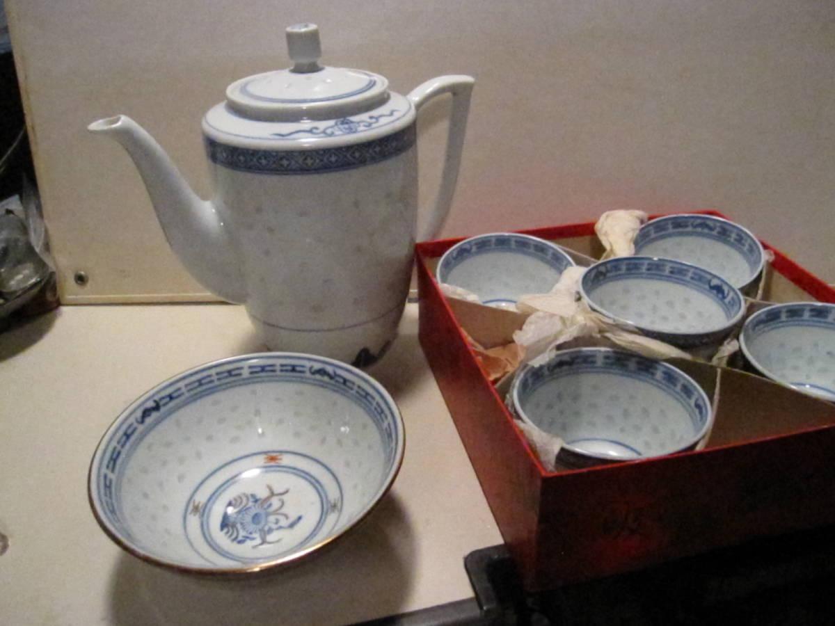 景徳鎮 蛍焼 煎茶碗 他 計7個