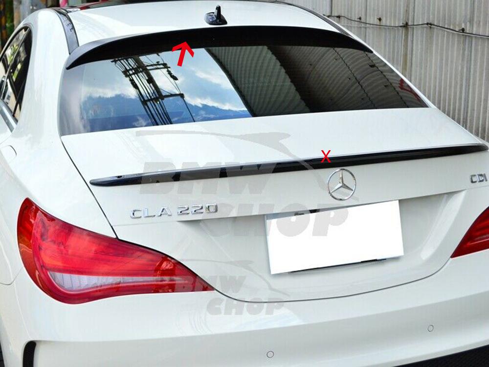 2点セット ベンツ CLA W117 C117 リアルーフスポイラーOE +リアトランクスポイラーV 塗装対応 2014-2019 ABS 各色付_画像3