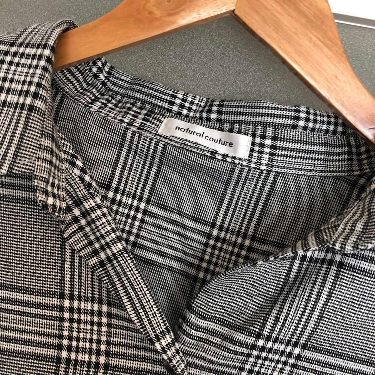 長袖シャツ 七分袖 シャツ チェックシャツ