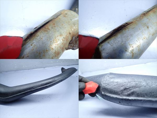βBY31-3 ホンダ NS-1 AC12 NS1 (H5年式) 他車流用 マフラー サイレンサー サイレンサー部穴有!傷、凹み有!_画像6