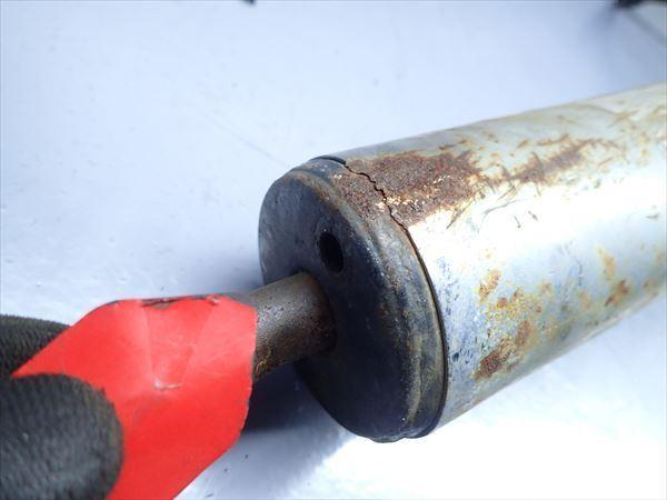 βBY31-3 ホンダ NS-1 AC12 NS1 (H5年式) 他車流用 マフラー サイレンサー サイレンサー部穴有!傷、凹み有!_画像3