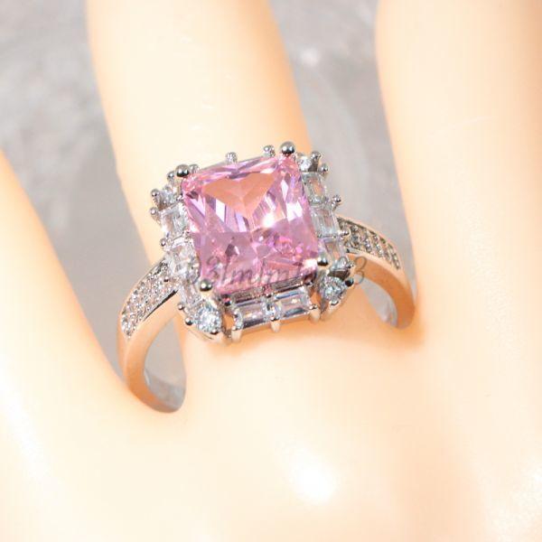 【送料無料・即決】P20 リング 21号 人工石 ピンクサファイア 大粒 シルバー 刻印 925 大きいサイズ コスチュームジュエリー 指輪_画像10
