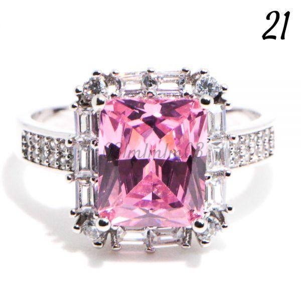 【送料無料・即決】P20 リング 21号 人工石 ピンクサファイア 大粒 シルバー 刻印 925 大きいサイズ コスチュームジュエリー 指輪_画像1
