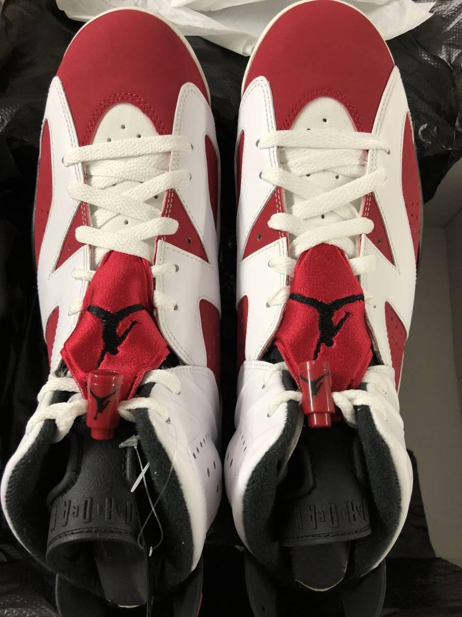 Nike Air Jordan 6 Retro Carmine 27.5cm 新品未使用デッドストック カーマイン US9.5 国内Nike.com購入明細書付 2014年_画像5