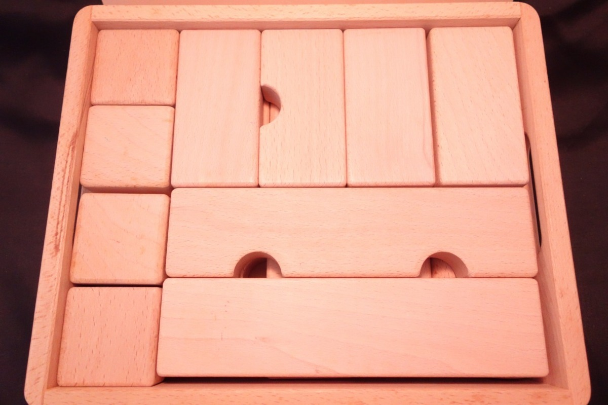 ■【メーカー不明】/知育玩具 天然木つみき/積み木[ベージュ]《中古△》Z1_画像2